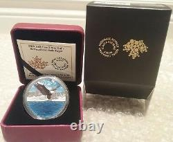 2019 Bald Eagle Reflection Silhouette $20 1OZ Pure Silver Proof 38mm Coin Canada