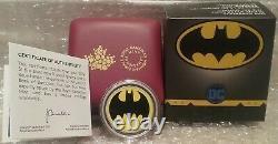 2019 Bat Signal Glow-Dark Dollar $1 3/4OZ Silver Proof Batman Coin Made by RCM