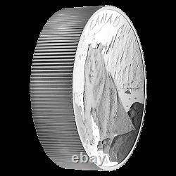 2019 Canada 10 oz. 9999 Fine Silver Coin $100 Double Concave Piedfort Brown Bear