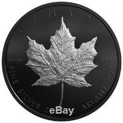 2019 Canada 2 oz Silver Maple Leaf Black Rhodium-pltd $10 GEM Proof OGP SKU55657