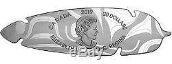 2019 Canada Eagle Feather Northwest Coast Art $20 1 oz Silver Proof Coin