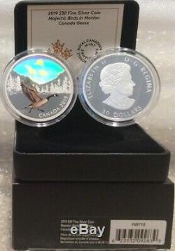 2019 Canada Geese Majestic Birds Motion Hologram $30 2OZ Pure Silver Proof Coin