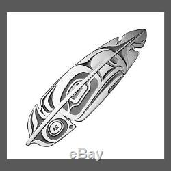 2019 Eagle Feather Northwest Coast Art $20 1 OZ Pure Silver Proof Coin Canada