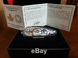 2019 Eagle Feather Northwest Coast Art $20 1OZ Pure Silver Proof Coin Canada