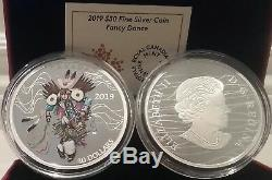 2019 Fancy Dance PowWow $30 2OZ Pure Silver Proof Coloured Canada Coin