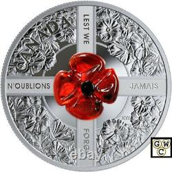 2019'Lest We Forget (Murano Glass)' Proof $20 Silver Coin 1oz. 9999 Fine(18850)