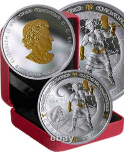 2019 Norse Gods Thor $20 1OZ Pure Silver Proof Coin Canada
