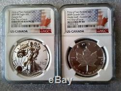 2019 PRIDE OF TWO NATIONS ASE SET NGC REV PF70 First Day of Issue RCM Canada Set