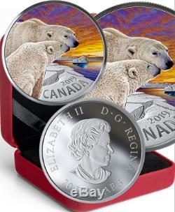2019 Polar Bear Canadian Fauna $20 1OZ Pure Silver Proof Coin Canada