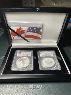2019 Pride Of Two Nations Canada Set Pcgs Rev Pr70 Fs 2-coin Set
