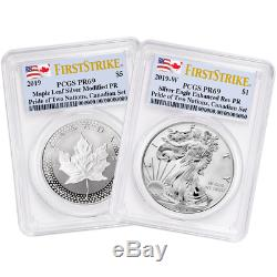 2019 Pride of Two Nations 2pc. Set PCGS PR69 FS Dual Flag Label Canada Set