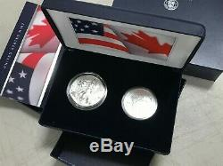 2019 Pride of Two Nations Limited Edition Two-Coin Set (USA/CANADA)