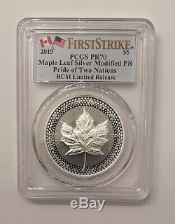 2019 Pride of Two Nations Maple Leaf PCGS PR70 FIrst Strike RCM Canada Version