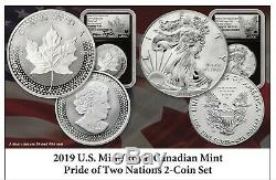 2019 Pride of Two Nations Set NGC PF70 FDOI Canada Version Mercanti/Taylor Label