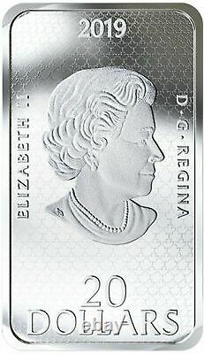 2019 RCM $20 UFO Shag Harbor 1 oz Glow in Dark Silver Proof Coin