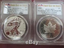 2019 RCM Pride of Two Nations 2pc. Set Canada Set PCGS PR70 FDOI Dual Flag Label