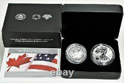 2019 RCM Pride of Two Nations Silver Limited Edition Canada Box Set with OGP COA