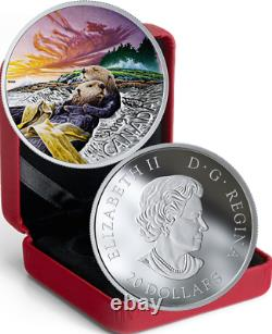 2019 Sea Otter Canadian Fauna $20 1OZ Pure Silver Proof Coloured Coin Canada
