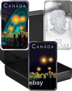 2019 UFO Shag Harbour Incident Unexplained Phenomena $20 Silver Proof Coin