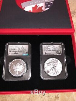 2019 United States & Canada Pride of Two Nations 2 Coin Set NGC PF70 F. D. I