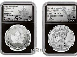 2019 United States & Canada Pride of Two Nations 2-Coin Set NGC PF70 FDI