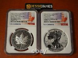 2019 W Enhanced Reverse Proof Silver Eagle Ngc Pf70 Pride Of Nations Canada Set