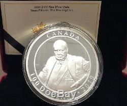 2019 Winston Churchill The Roaring Lion $100 10OZ Pure Silver Proof Coin Canada