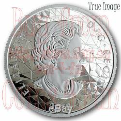 2019 Wolf Multifaceted Animal Head #1 $25 Proof Pure Silver Coin Canada