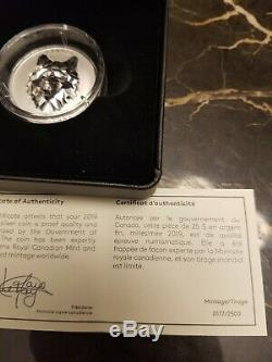 2019 Wolf Multifaceted Animal Head #1 Proof 99.99 Pure Silver Coin Canada