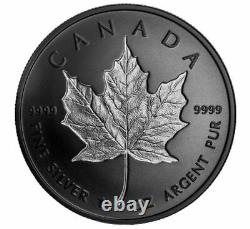 2020 $20 1 OZ Canada Silver Maple Leaf Incuse Rhodium