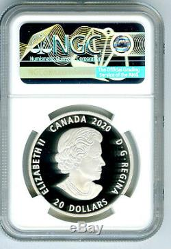 2020 $20 Canada Silver Proof Bill Reid Grizzly Bear Ngc Pf70 First Day Of Issue