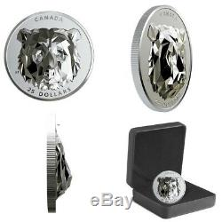 2020 Bear Multifaceted Animal Head Silver Proof Coin Extra High Relief Canada