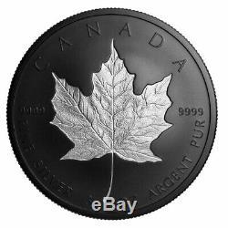 2020 Canada $50 3 oz Incuse Silver Maple Leaf Black Proof Coin GEM Proof OGP
