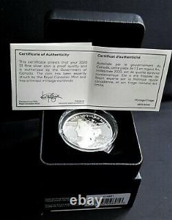 2020 Canada Peace Dollar Ultra High Relief 1$ 99.99% Pure Silver Coin Uhr