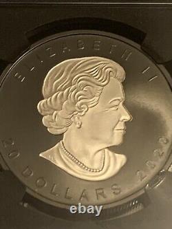 2020 Canada Silver Maple Leaf Incuse Black Rhodium 1 oz