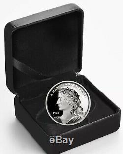 2020 Canada Silver Peace Dollar 1 oz Silver Proof UHR Coin OGP Box & COA EBUX