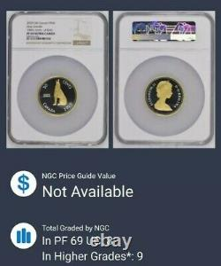 2020 Gilt 50c Canada 2oz Silver Ngc Pf69 Ultra Cameo Howling Wolf Alex Colville