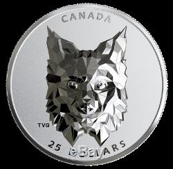 2020 Lynx Multifaceted Animal Head #3 $25 EHR Silver Proof Coin Canada