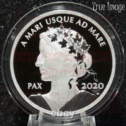 2020 PAX Peace Dollar $1 1 OZ Pure Silver Proof Coin Canada