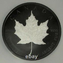 2020 SILVER CANADA PROOF $50 INCUSE 3oz MAPLE LEAF RHODIUM PLATE NGC PR 70 FDOI
