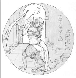 2020 Temptation Of The Succubus 2 oz. 999 Silver Proof Capsuled Round WithCOA