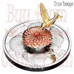 2020 The Moving Hummingbird and the Bloom $50 5 OZ Pure Silver Proof Coin Canada