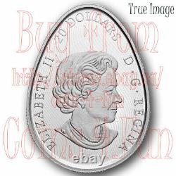 2020 Traditional Ukrainian Pysanka $20 Pure Silver Egg Shaped Proof Coin