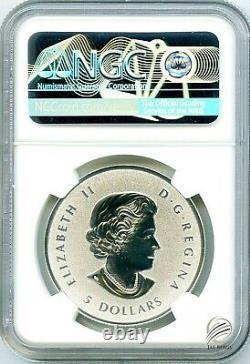2021 $5 1 Oz Canada Silver Pulsating Maple Leaf Ngc Pf69 Rev Proof Mintage 3k