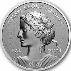 2021 CANADA $1 Peace Dollar PAX 1oz Pure Silver Ultra High Relief Proof Coin