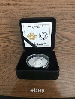 2021 Canada 1 OZ Pure Silver Peace Dollar Ultra High Relief Reverse Proof Coin