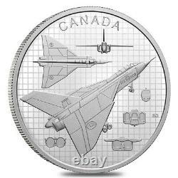 2021 Canada 1 oz The Avro Arrow Proof Silver Coin. 9999 Fine (withBox & COA)