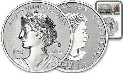 2021 Canada Peace Dollar-ngc Pf70-fdoi-reverse Proof-ultra High Relief-stunning