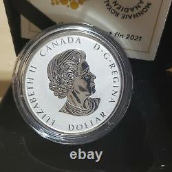 2021 Canada Silver Peace Dollar 1 oz Proof Ultra High Relief. 9999 Silver Coin