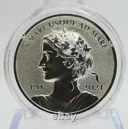 2021 Canada Silver Peace Dollar 1 oz Proof Ultra High Relief Coin OGP Mint JJ601